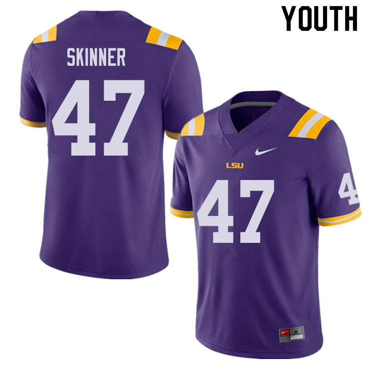 Youth #47 Quentin Skinner LSU Tigers College Football Jerseys Sale-Purple