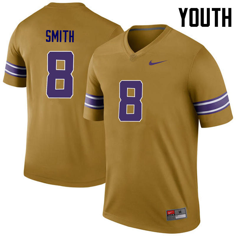 Youth LSU Tigers #8 Saivion Smith College Football Jerseys Game-Legend