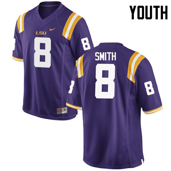 Youth LSU Tigers #8 Saivion Smith College Football Jerseys Game-Purple